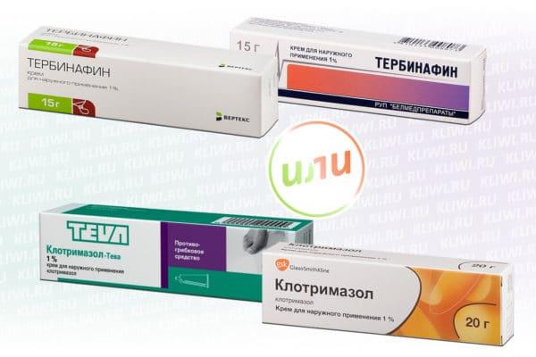 Тербинафин или Клотримазол — что лучше?