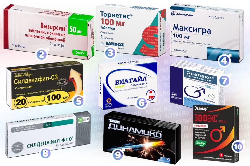 Препараты содержащие силденафил в составе